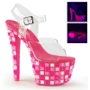 SKY-308UVTL Clear/Neon Hot Pink